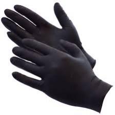 Juodos nitrilinės pirštinės  (S dydis)